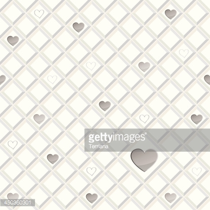 Lonely  hearts seamless background.