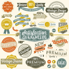Colorful Vintage Copyspace Design Elements