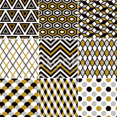 seamless geometric gold pattern
