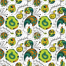 Seamles floral vector pattern