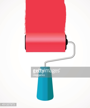 Paint roll icon vector illustration