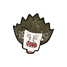 severed head cartoon character