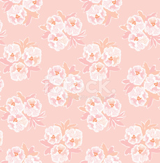 Flower bouquet pink and white seamless texture