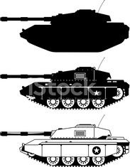 Tank military icons