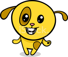 cartoon kawaii puppy illustration