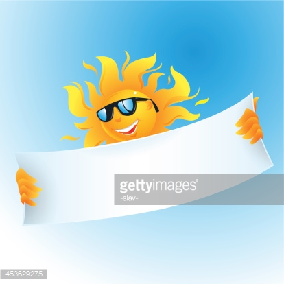 vector sun with banner