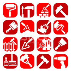 color construction and repair icons