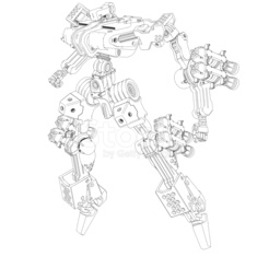 Original design robot[Outline illustration]