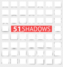 Set of transparent realistic shadow effects