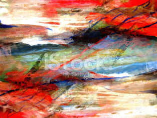Abstract background nature painting