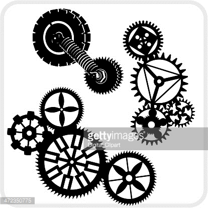 Gear Background Design - vector set.