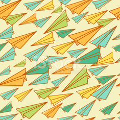 Pattern with paper airplanes