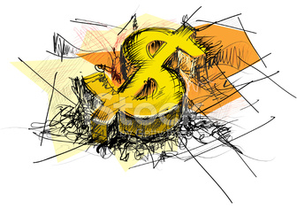 Dollar Sign Abstract