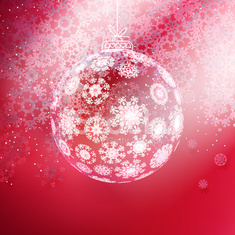 Christmas ball made from snowflakes.