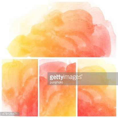 Set of Colorful water color painting background
