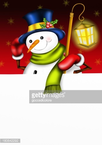 snowman with cylinder