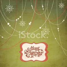 Merry Christmas greeting design with ornaments