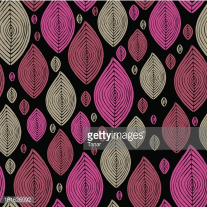 Seamless pink and grey leaves texture