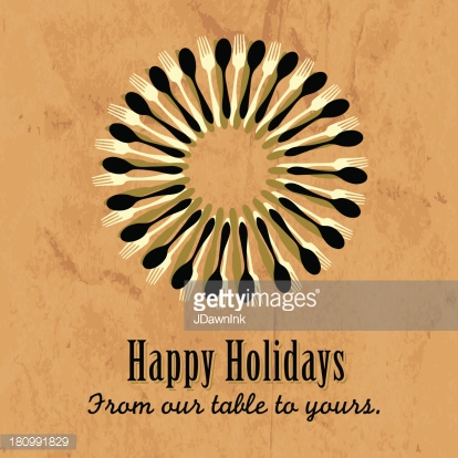 Happy Holidays food themed greeting template