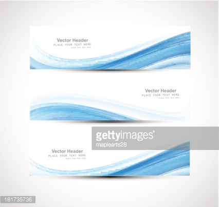 Abstract header blue wave vector