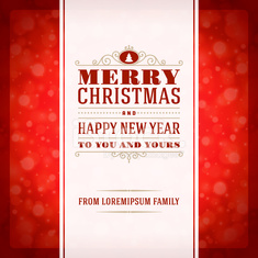 Merry Christmas invitation card ornament decoration background.