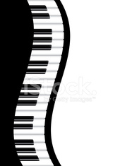 Piano Border Wavy Vector Illustration