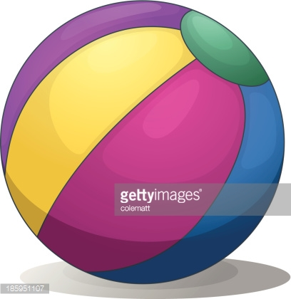 colorful inflatable beach ball