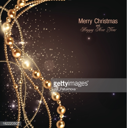 Elegant christmas background with golden garland