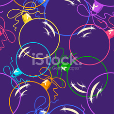 Seamless pattern of Christmas balls