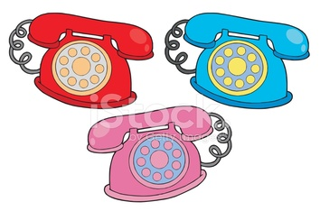 Various colors telephones