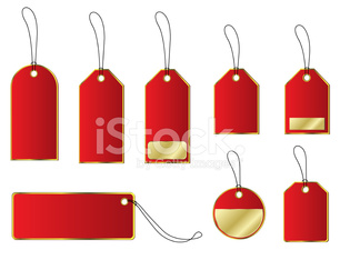 Price and labels tags sets.