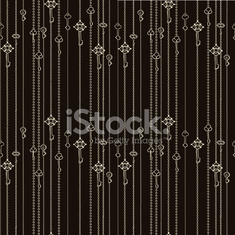 seamless pattern with keys hanging on chains