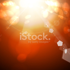 Red sun bokeh abstract  background.