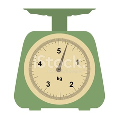 domestic weigh-scales on white