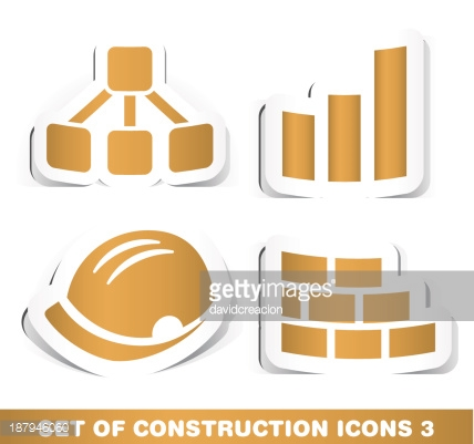 Set of Construction Paper Icons.
