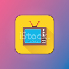 Vector Retro TV Icon