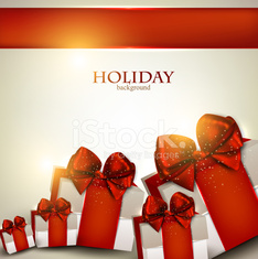 Elegant background with Christmas gifts