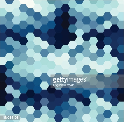 Blue Hexagonal Pattern