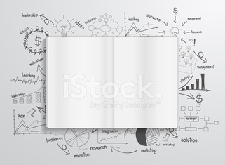 Book with drawing charts and graphs success business plan