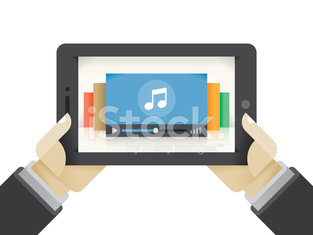 Music collection on the tablet computer