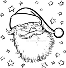Dibujos Animados Para Colorear Libro Santa Claus Stock Photos