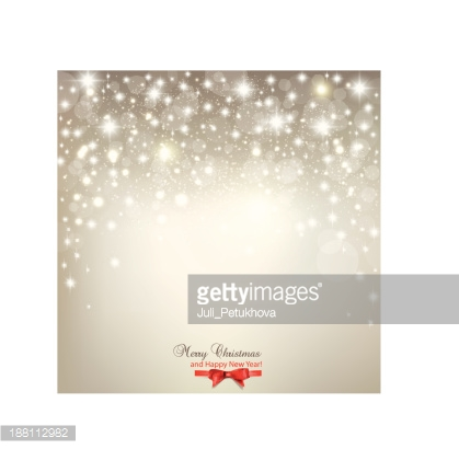 Elegant twinkling light Christmas background with snowflakes