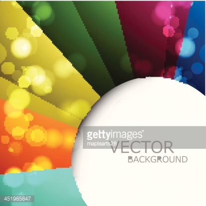 Abstract colorful rainbow circle vector background