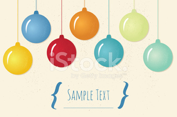 Invitation Card with Christmas Tree Ornaments