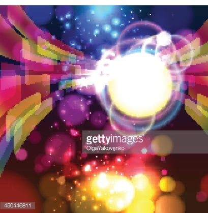 Abstract lights background.  Vector.