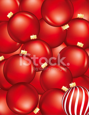 Red Christmas Ornament Background