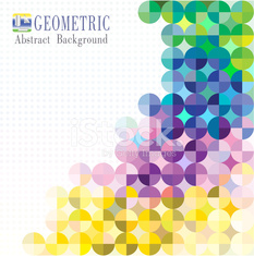 Multicolored mosaic background. vector