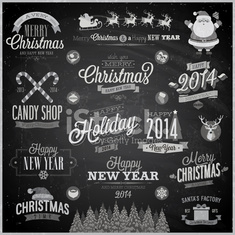 Christmas set - labels
