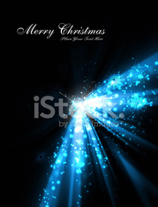 merry christmas tree celebration blue bright colorful background
