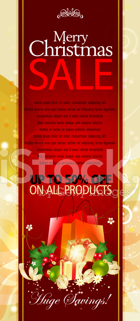 Merry Christmas Sale Promotions Vertical Banner
